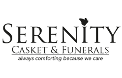 Serenity Casket & Funerals Logo on The beautiful memories