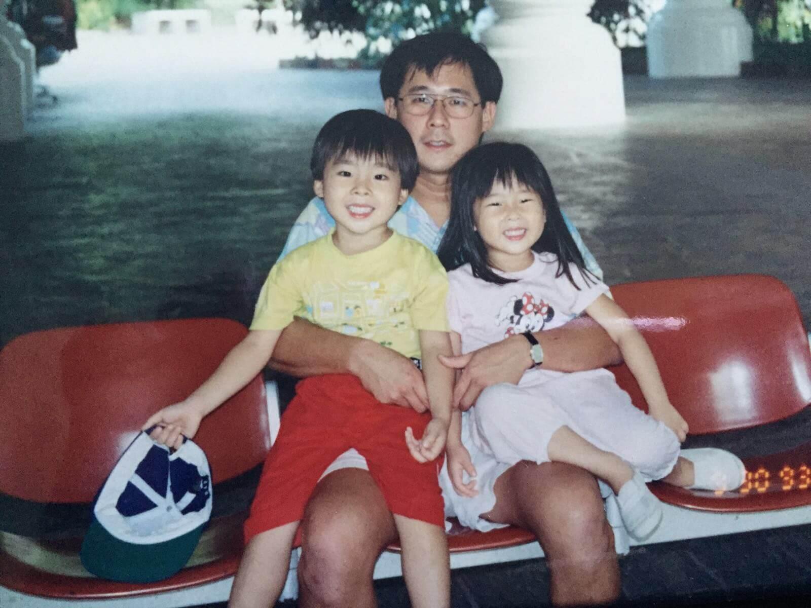 Kelvin Seah with his kids