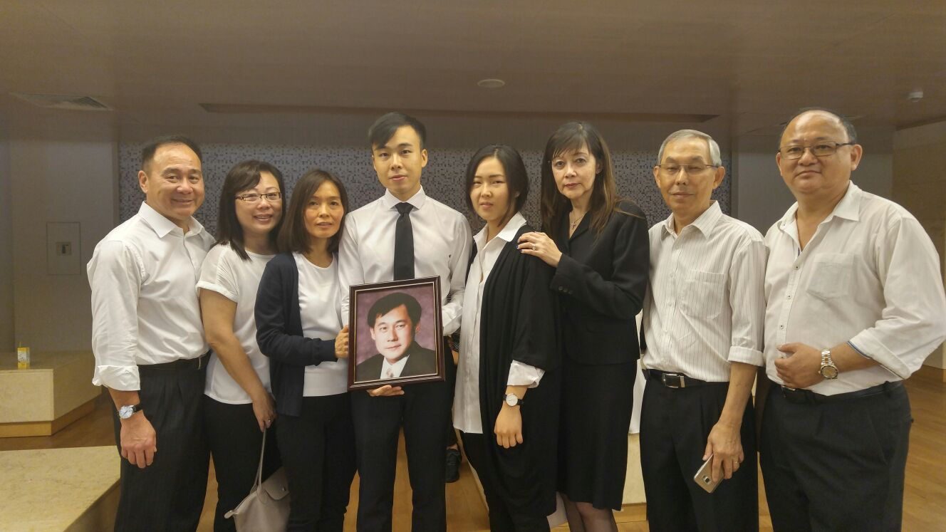 Kelvin with Family and friends