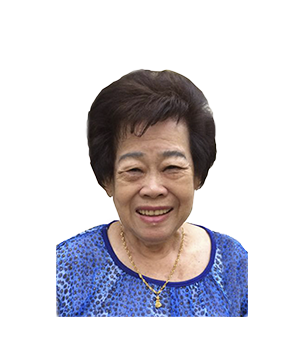 Late Mdm Teo Poh Wher masthead photo for online obituary at the beautiful memories