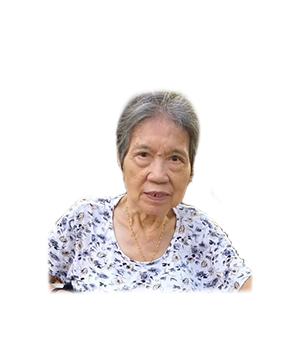 Late Mdm. Hong Cheong Yoek masthead photo for online obituary on the beautiful memories