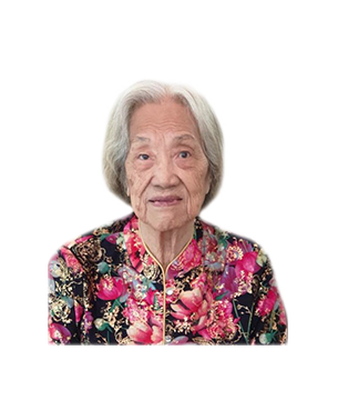 Late Mdm. Lee Chio Tee masthead photo for online obituary on the beautiful memories