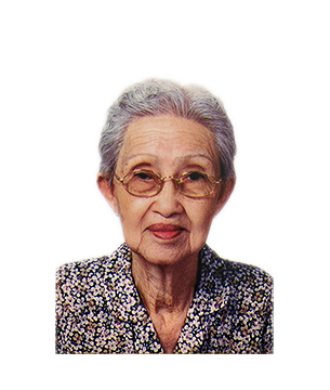 Late Mdm. Yeo Hong masthead photo for online obituary on the beautiful memories