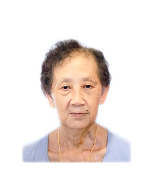 Late Mdm. Lee Cheow Wah masthead photo for online obituary on the beautiful memories