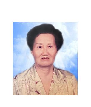 Late Mdm. Kho Geok Kheng masthead photo for online obituary on the beautiful memories