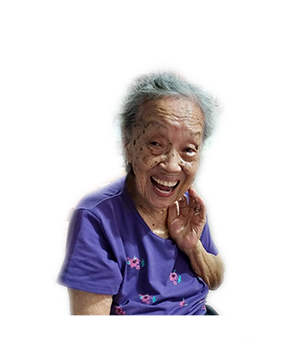 Late Mdm. Lim Ah Kheng masthead photo for online obituary on the beautiful memories